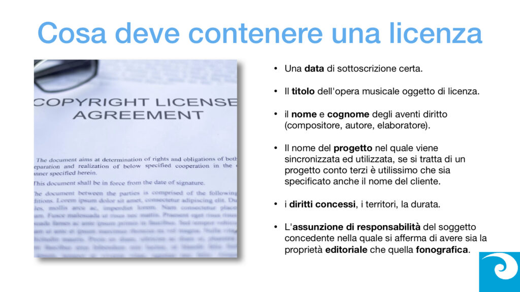 Le Licenze Musicali online