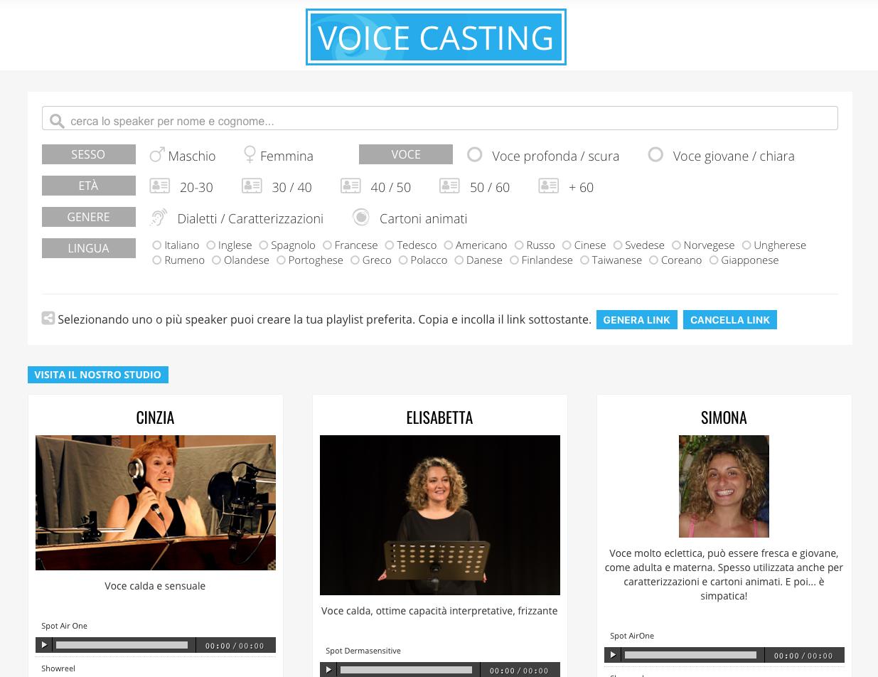 Voice Casting Preludio